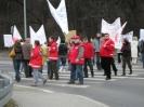 Blokada drogi - Przemyśl 14.03.2008r.