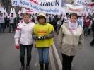 Manifestacja w obronie przemysłu - Warszawa 15.12.2009r.