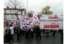 Ogólnopolski protest przed starostwem - Sieradz 23.10.2008r.
