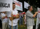 Protest przed ambasadą Francji - Warszawa 14.07.2010r.