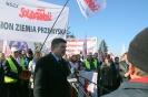 Protest przed Fabryką Wagonów - Gniewczyna Łańcucka 28.10.2014r.